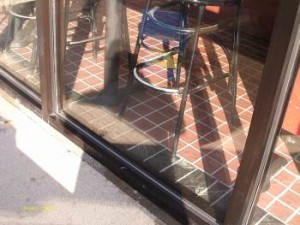 After Glass Door Cleaning